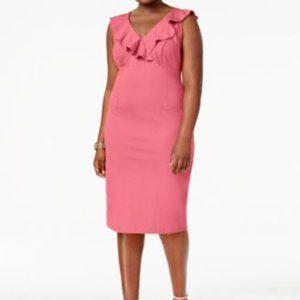 Love Squared DARK GRAY Ruffle Dress